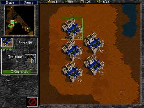Warcraft 2: Beyond the Dark Portal - Full Human Campaign Gameplay & Story (Speedrun / Walkthrough)