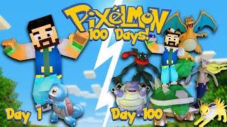 I SPENT 100 DAYS IN MINECRAFT PIXELMON! (Pokemon In Minecraft)