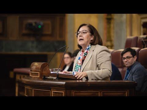 Intervención de María Jesús Moro en el Congreso de los Diputados