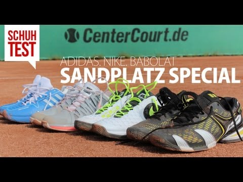 Tennis Sandplatzspecial 2013: 4 Schuhe im Test