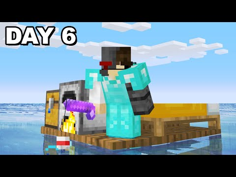 Surviving Minecraft stranded on a RAFT... Day 6