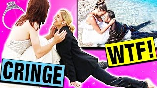 The wedding cringe is real! Thumbs up this video if you want us to do a PART 3 and if it gets 40k thumbs up I'll sit in an ICE BATH!