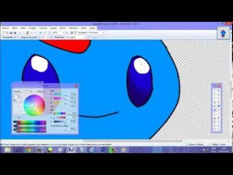Tutorial como desenhar pokemons fakemons usando o mouse 1