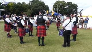 Scottish Bagpipe and Drummers in Isleham Gala Day 2017