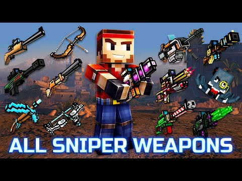 Pixel Gun 3D - Using All Sniper Weapons Challenge