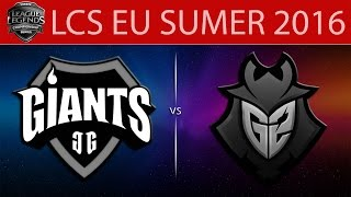 Giants vs G2, game 1