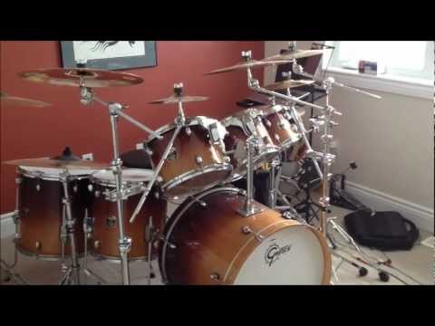 My Gretch 7 Piece Catalina Maple Drum Kit With Sabian Cymbals