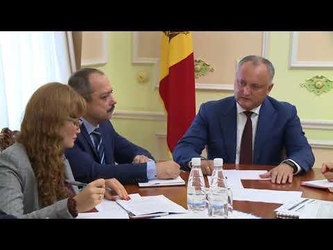 Igor Dodon a prezidat ședința finală cu privire la desfășurarea Congresului Mondial al Familiei
