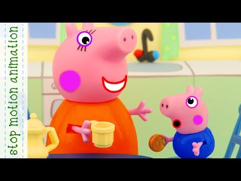 The Lost Tooth Peppa Pig Toys Stop Motion Animation In English