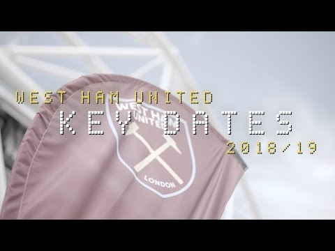 WEST HAM UNITED 18/19 PREMIER LEAGUE FIXTURES