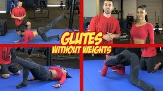 FREE pdf - The 5-Minute Glute Workout http://www.criticalbench.com/glutes/#1 Way to UNLOCK Your Tight Hip Flexorshttp://www.criticalbench.com/growth/psoas/Subscribe to Our Channel:http://www.youtube.com/subscription_center?add_user=criticalbenchTargeting and growing your glutes without weights can be challenging but these are the 6 exercises to do it!IFBB Pro Bikini Competitor Marcia Goncalves joined Critical Bench to show her champion level glutes.  Do the glute exercises in this video without using any weights and just like Marcia, you too have a shot at growing your glute muscles and getting a rounder, stronger butt.