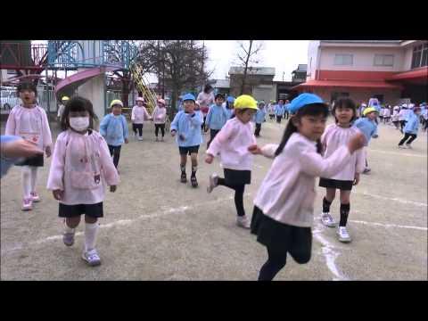 ともべ幼稚園「最後の3分間マラソン」