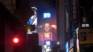 2015 NEW YEARS BALL DROP TIME SQUARE