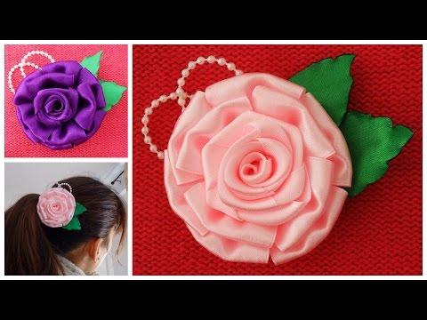 Как сделать розы из сатина 34