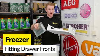 For all your fridge/freezer spare parts go to: http://bit.ly/1AfLum6The plastic fronts on freezer drawers become brittle when cold and can easily crack. It can be difficult to remove the old front without damaging the drawer. Mat shows how to remove and fit a new drawer front.