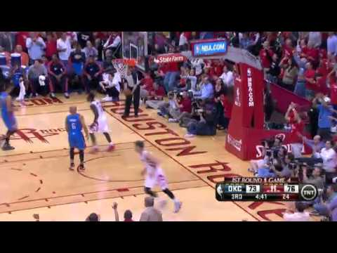 Houston - Chandler Parsons scores 27 points and grabs 10 rebounds as the Rockets beat the Thunder in Game 4.