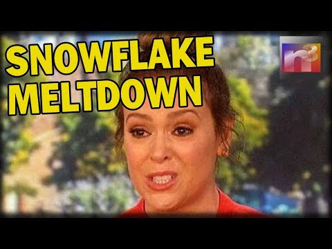 Ultra-Liberal SNOWFLAKE Alyssa Milano SUFFERS Epic Meltdown After Reading Trump's Tweets'