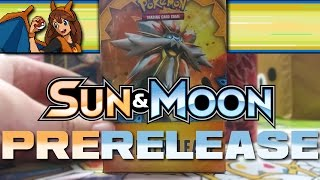 Pokemon TCG SUN AND MOON Base Set Prerelease - Opening 10 Packs of New Pokemon Sun and Moon Cards! by Flammable Lizard