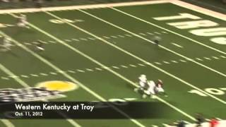 Troy wide receiver Eric Thomas has made some amazing grabs in his time with Trojans.