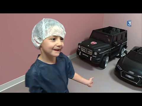 Valenciennes : fini les brancards, les enfants vont désormais à l'hôpital... en voiture électrique !