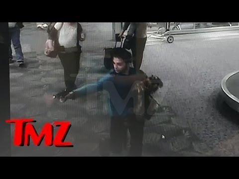 Cámara capta a atacante en aeropuerto de Florida