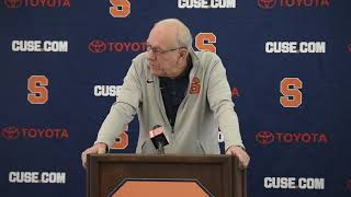 Syracuse coach Jim Boeheim gives his thoughts on the NCAA Tournament