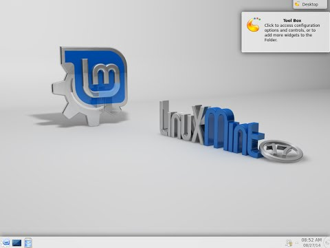 Installation of Linux Mint 17 KDE 64bit. From Freedom Came Elegance.