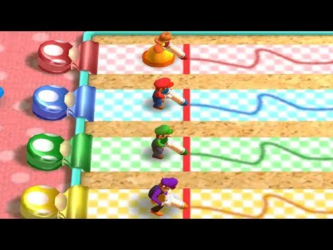 Mario Party The Top 100 Minigames - Daisy Vs Mario Vs Wario Vs Waluigi All Minigames (Master Cpu)
