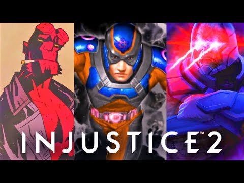INJUSTICE 2 - ALL DLC CHARACTERS ENDING! (Atom, Hellboy, Starfire & More)
