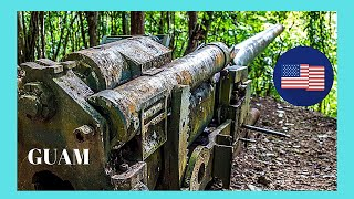 WW2, Guam, Piti, Pitti, guns: Let's visit the WW2 Japanese guns (Piti Guns) found in a forest in Guam (Micronesia, Pacific Ocean)!