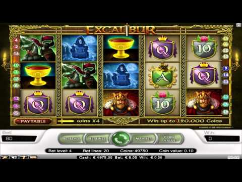 FREE Excalibur ™ slot machine game preview by Slotozilla.com