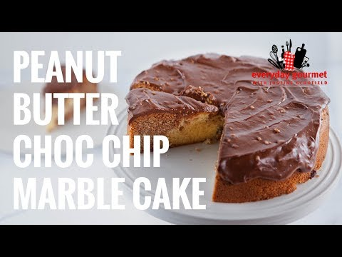 Peanut Butter Choc Chip Marble Cake | Everyday Gourmet S7 E23