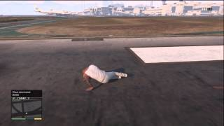 GTA 5 SKY DIVING HOW TO SURVIVE WITHOUT A PARACHUTE (CHEAT)