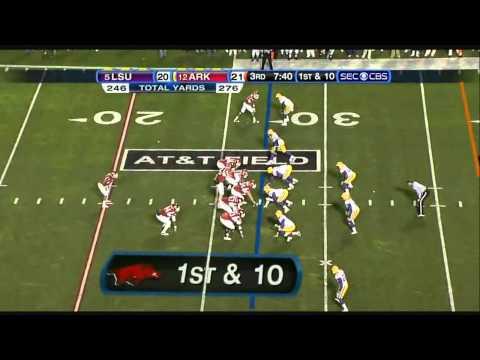 Knile Davis vs LSU 2010 video.