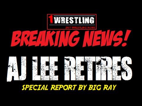 BREAKING NEWS: AJ LEE RETIRES FROM THE WWE!
