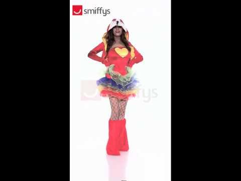 Déguisement perroquet coloré pour femme