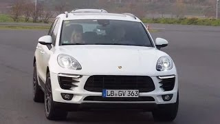 Riding shotgun in the new 2015 Porsche Macan SUV on road and off road