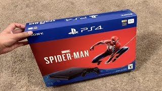 PS4 (SPIDER-MAN) CONSOLE UNBOXING! Playstation 4 Black Friday Spider-Man Bundle