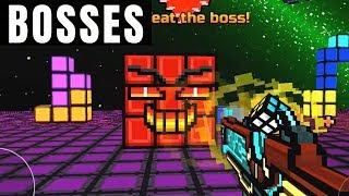 Pixel Gun 3D | All Bosses World 4 Virtual Worlds