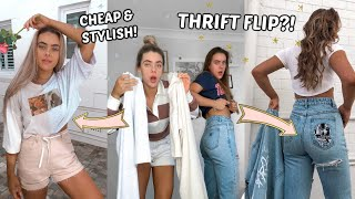 WE DIY'd OUR OLD CLOTHES! *Trendy & Affordable* (Transformation)   Thrift Flip // Mescia Twins