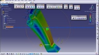 Catia V5 Tutorial|Generative Structural Analysis|Static Loads|Global Distributed Force & Moment|P3