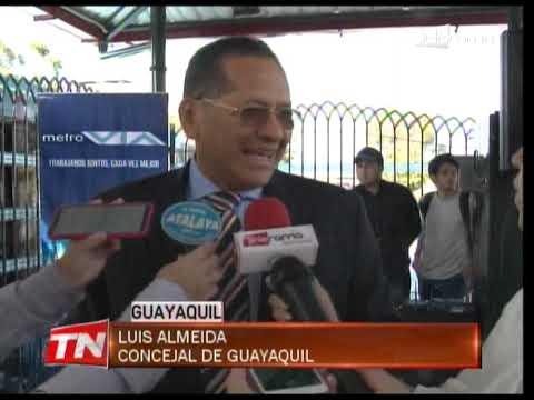 Inauguran dos nuevas paradas de la metrovía en el Guasmo Sur