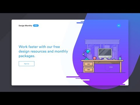 How To Design And Code A Responsive Illustration Style Website - Part 1