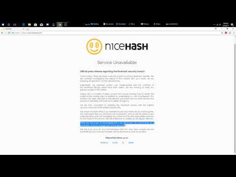 NICEHASH EXIT SCAM ???