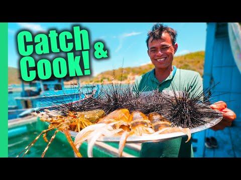 Vietnam's Aquaman!! SPIKY Sea Urchin and Seafood FEAST!! | Surviving Vietnam Part 7