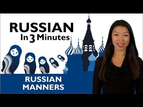 Russisch lernen - Danke und Sie sind willkommen in Russisch