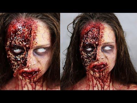 THE WALKING DEAD ZOMBIE - Halloween SFX Makeup Tutorial