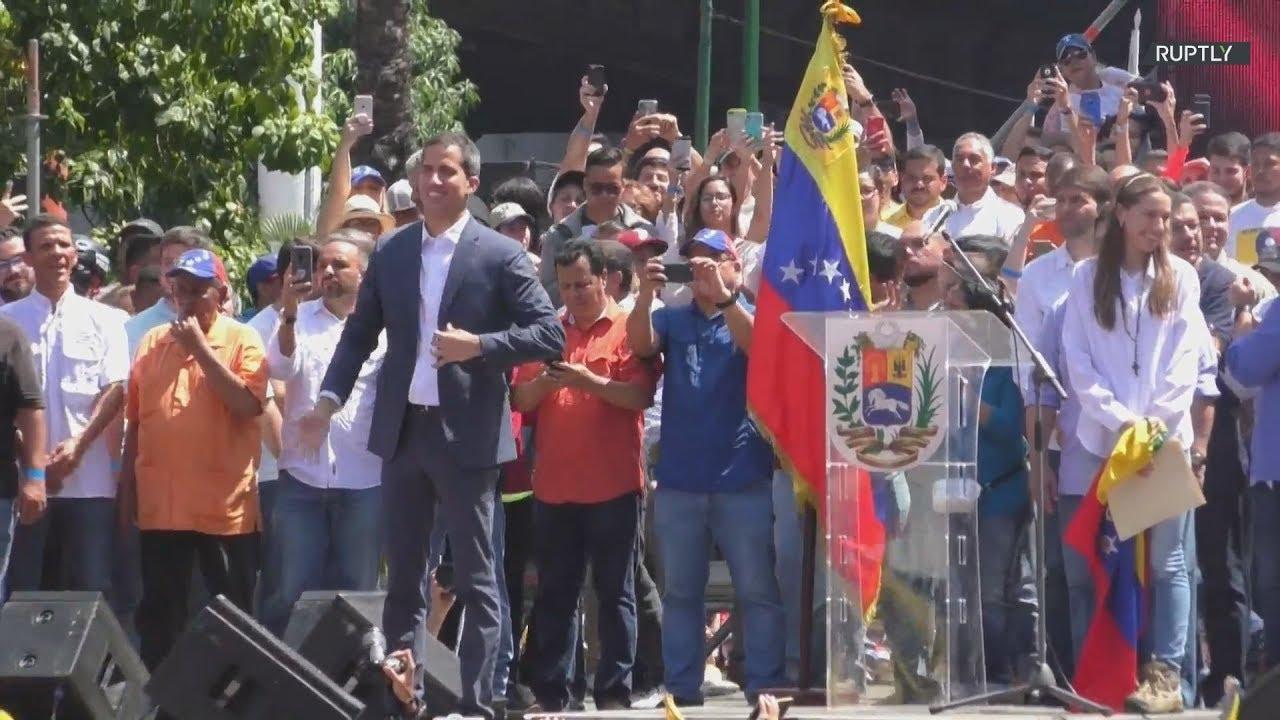 """""""Η αλλαγή στη Βενεζουέλα είναι πολύ κοντά"""" είπε ο Γκουαϊδό ενώπιον χιλιάδων διαδηλωτών"""