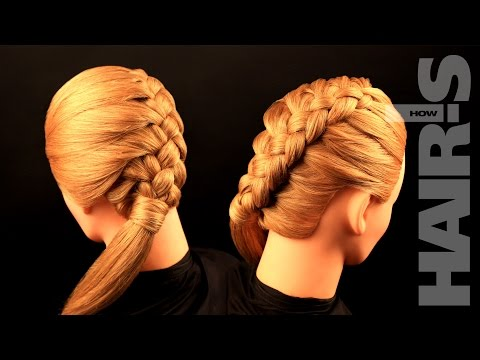How to do a diagonal four-strand braid hairstyle