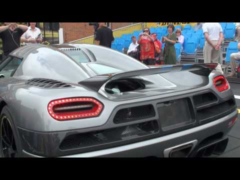 agera - The incredible new Koenigsegg Agera is shown with some camera angles inside and out before the engine is fired up and a few revs let out. The car is then sho...